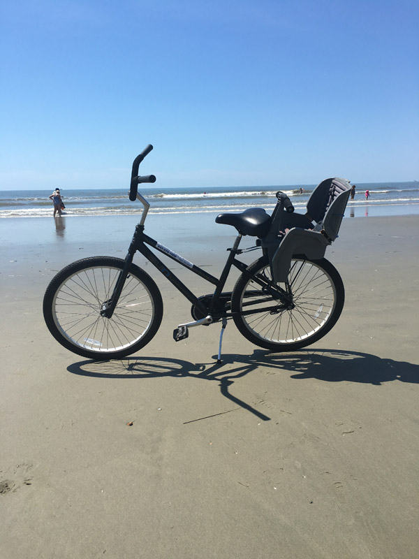 Adult 26 Inch Bike with Child Seat & Adult 26 Inch Bike with Child Seat - IOP Beach Chair