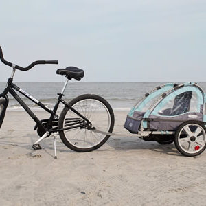 Adult 26 Inch Bike with Bike Trailer