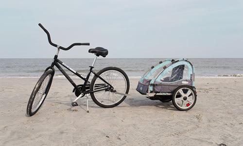 Adult 26 Inch Bike with Bike Trailer