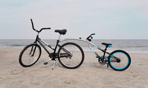 Adult 26 Inch Bike with Tag-A-Long