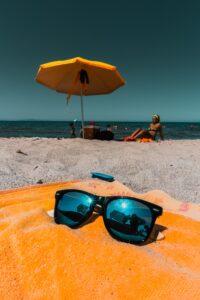 Beach Umbrella on the beach